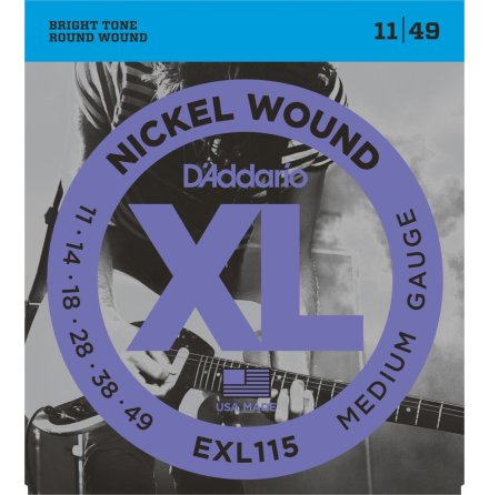 D´Addario Elgitarr Nickel Wound 011-049