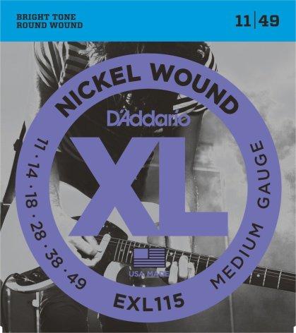 DADDARIO EXL115 Elgitarr Nickel Wound 011-049