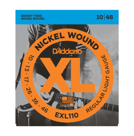 D´Addario Elgitarr Nickel Wound 010-046